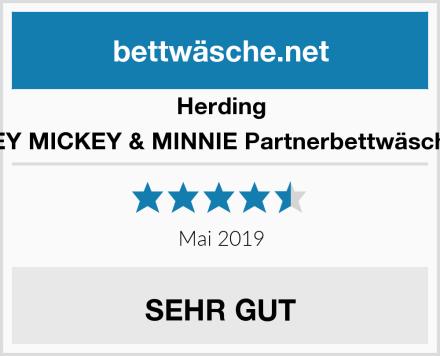 Herding DISNEY MICKEY & MINNIE Partnerbettwäsche-Set Test