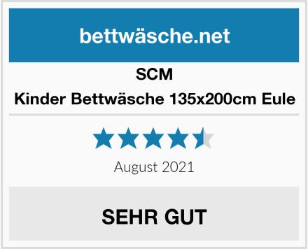 SCM Kinder Bettwäsche 135x200cm Eule Test