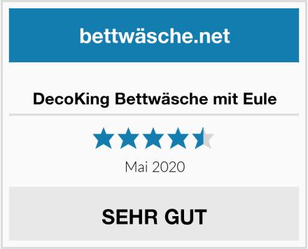 No Name DecoKing Bettwäsche mit Eule Test