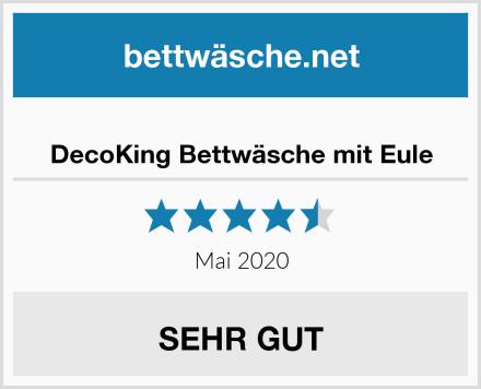DecoKing Bettwäsche mit Eule Test