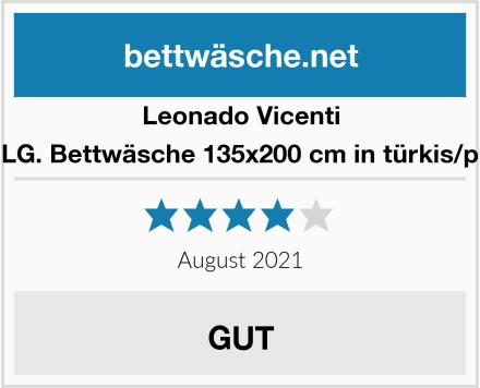 Leonado Vicenti 2 TLG. Bettwäsche 135x200 cm in türkis/pink Test