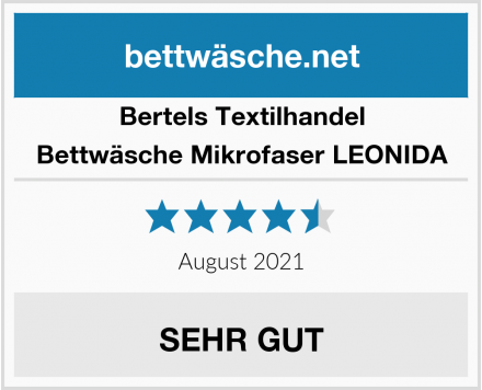 Bertels Textilhandel Bettwäsche Mikrofaser LEONIDA Test