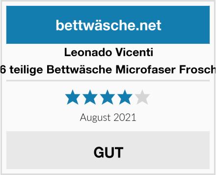 Leonado Vicenti 6 teilige Bettwäsche Microfaser Frosch Test
