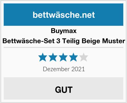 Buymax Bettwäsche-Set 3 Teilig Beige Muster Test