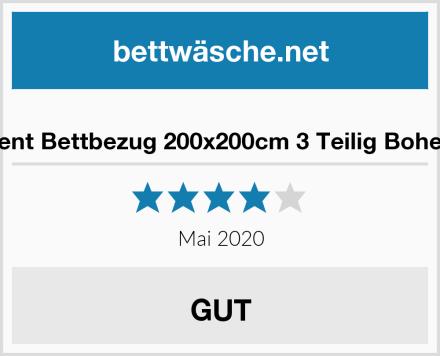 Comficent Bettbezug 200x200cm 3 Teilig Bohemia Stil Test