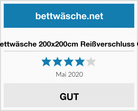 Lanqinglv Bettwäsche 200x200cm Reißverschluss Grau & Weiß Test