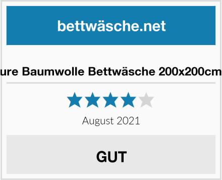 Bedsure Baumwolle Bettwäsche 200x200cm Grau Test