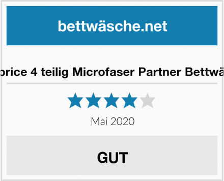 No Name Niceprice 4 teilig Microfaser Partner Bettwäsche Test