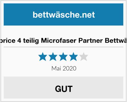 Niceprice 4 teilig Microfaser Partner Bettwäsche Test