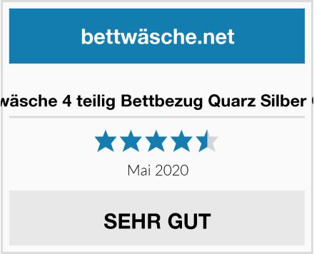 No Name Biber Bettwäsche 4 teilig Bettbezug Quarz Silber Ornamente Test