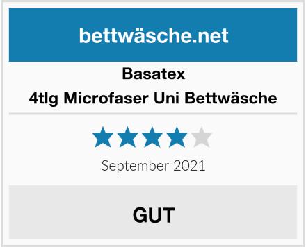 Basatex 4tlg Microfaser Uni Bettwäsche Test