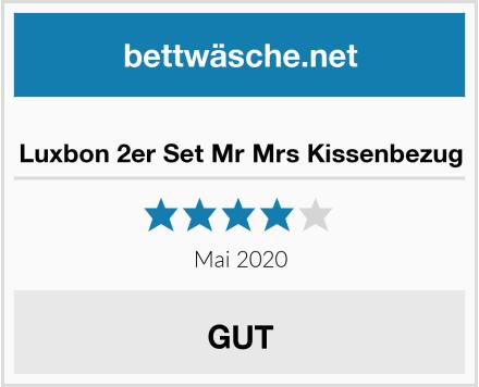 Luxbon 2er Set Mr Mrs Kissenbezug Test