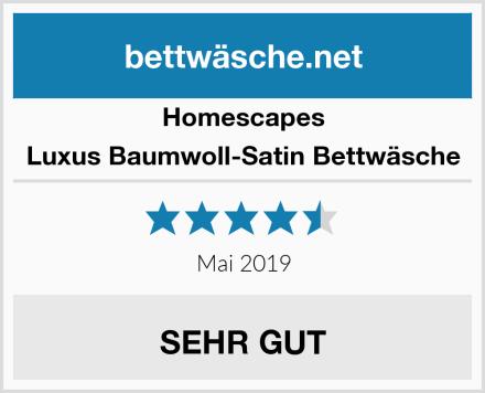 Homescapes Luxus Baumwoll-Satin Bettwäsche Test
