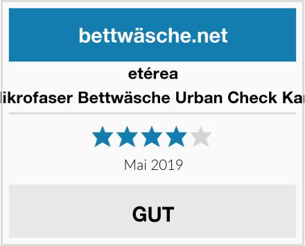 etérea Mikrofaser Bettwäsche Urban Check Karo Test
