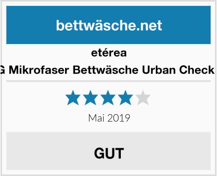 etérea 2 TLG Mikrofaser Bettwäsche Urban Check Karo Test