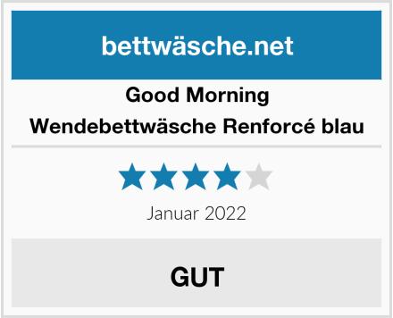 Good Morning Wendebettwäsche Renforcé blau Test