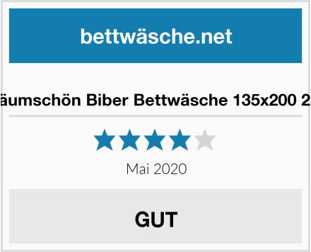 Träumschön Biber Bettwäsche 135x200 2tlg Test