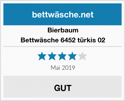 Bierbaum Bettwäsche 6452 türkis 02 Test