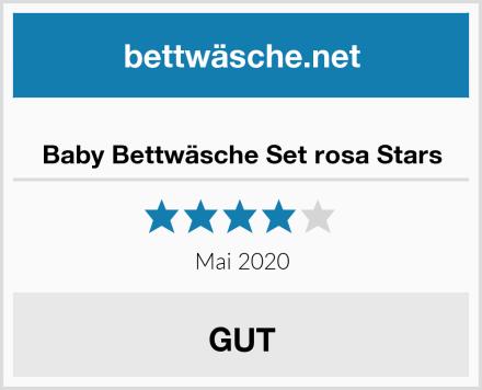 Baby Bettwäsche Set rosa Stars Test