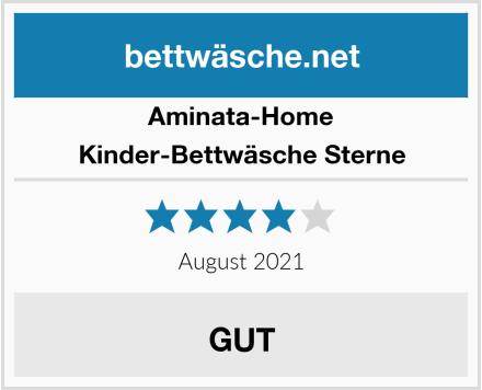 Aminata-Home Kinder-Bettwäsche Sterne Test