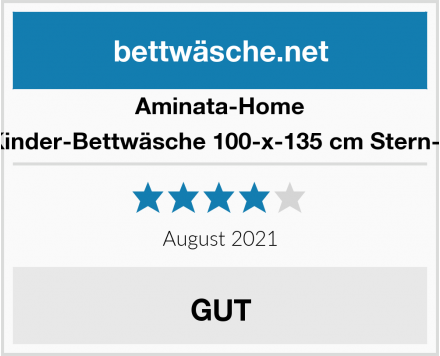 Aminata-Home Kinder-Bettwäsche 100-x-135 cm Stern-e Test
