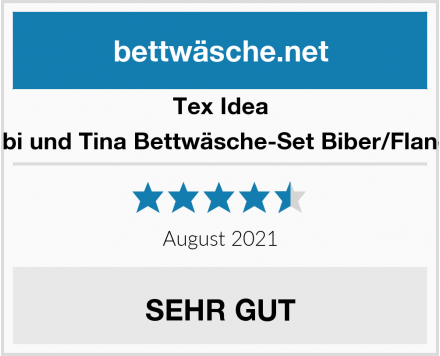 Tex Idea Bibi und Tina Bettwäsche-Set Biber/Flanell Test