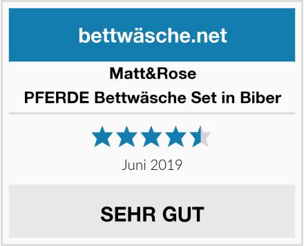 Matt&Rose PFERDE Bettwäsche Set in Biber Test