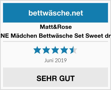 Matt&Rose STERNE Mädchen Bettwäsche Set Sweet dreams Test