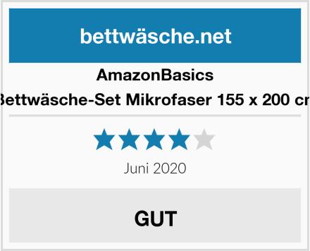 AmazonBasics Bettwäsche-Set Mikrofaser 155 x 200 cm Test