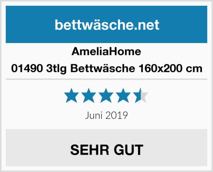 AmeliaHome 01490 3tlg Bettwäsche 160x200 cm Test