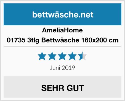 AmeliaHome 01735 3tlg Bettwäsche 160x200 cm Test