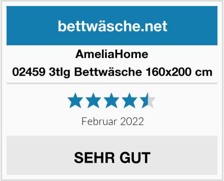 AmeliaHome 02459 3tlg Bettwäsche 160x200 cm Test