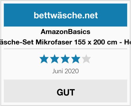 AmazonBasics Bettwäsche-Set Mikrofaser 155 x 200 cm - Hellgrau Test