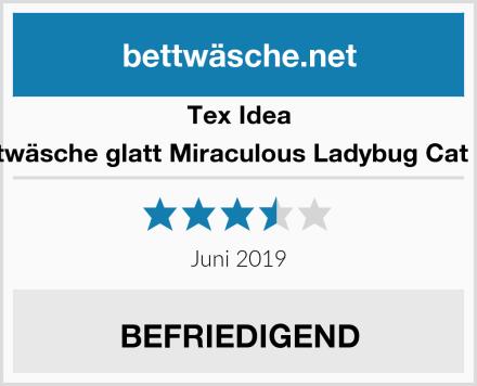 Tex Idea Bettwäsche glatt Miraculous Ladybug Cat Noir Test