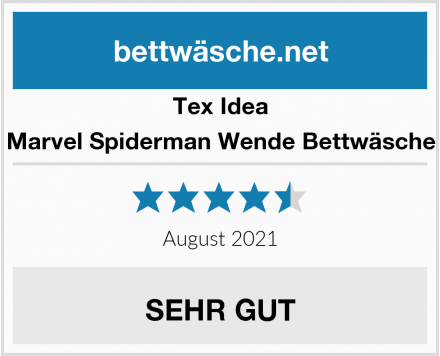 Tex Idea Marvel Spiderman Wende Bettwäsche Test