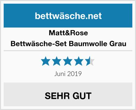 Matt&Rose Bettwäsche-Set Baumwolle Grau Test
