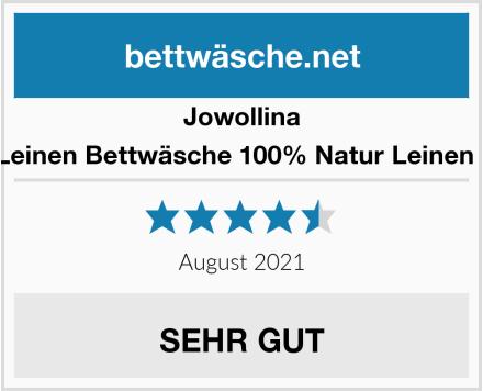 Jowollina Leinen Bettwäsche 100% Natur Leinen - Test