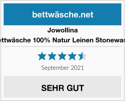 Jowollina Leinen Bettwäsche 100% Natur Leinen Stonewashed Grau Test