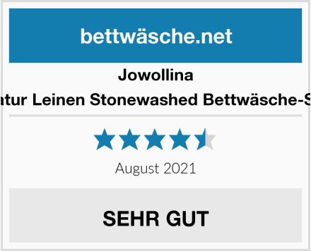 Jowollina Natur Leinen Stonewashed Bettwäsche-Set Test