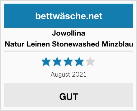 Jowollina Natur Leinen Stonewashed Minzblau Test