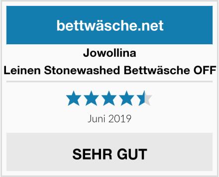 Jowollina Natur Leinen Stonewashed Bettwäsche OFF White Test