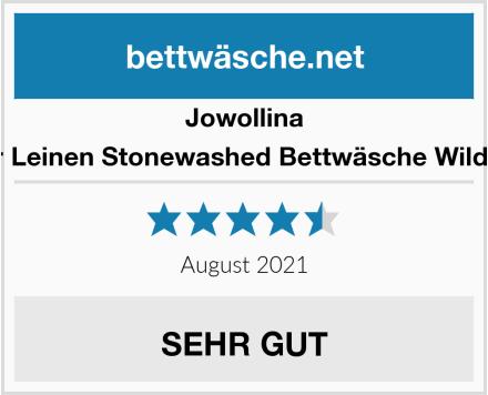 Jowollina Natur Leinen Stonewashed Bettwäsche Wild Plum Test