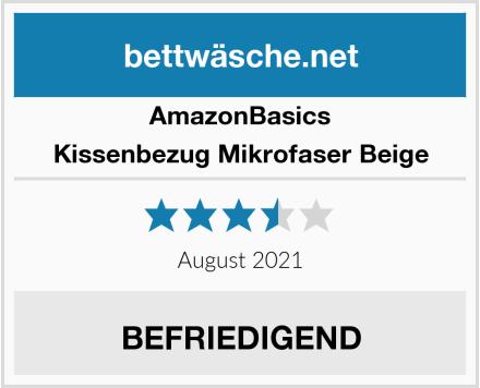 AmazonBasics Kissenbezug Mikrofaser Beige Test