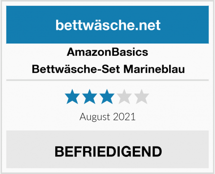 AmazonBasics Bettwäsche-Set Marineblau Test
