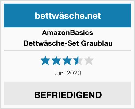 AmazonBasics Bettwäsche-Set Graublau Test
