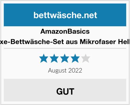 AmazonBasics Deluxe-Bettwäsche-Set aus Mikrofaser Hellweiß Test