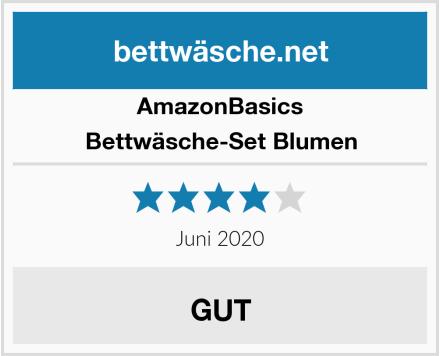 AmazonBasics Bettwäsche-Set Blumen Test
