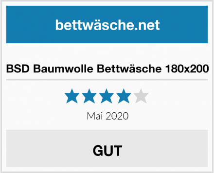 BSD Baumwolle Bettwäsche 180x200 Test