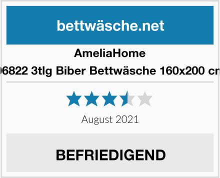 AmeliaHome 06822 3tlg Biber Bettwäsche 160x200 cm Test