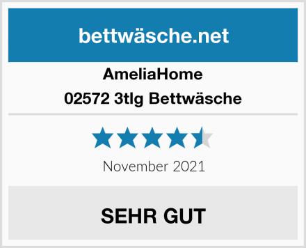 AmeliaHome 02572 3tlg Bettwäsche Test
